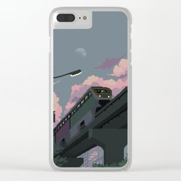Moonrise Train Clear iPhone Case
