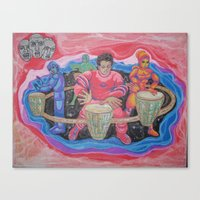 drums Canvas Prints featuring Drums by Jason Cooper