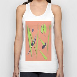 80s Shapes, Colors and Space Unisex Tank Top