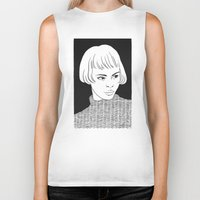 chic Biker Tanks featuring Chic Lady by Cannibal Malabar