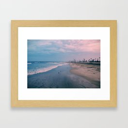 Rainy Day at the Beach Framed Art Print