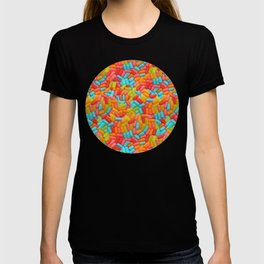 Colorful Tropical Jelly Bean Candy Photo Pattern T-shirt