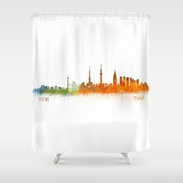 Tokyo City Skyline Hq V2 Shower Curtain