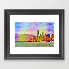 Rainbow New York Framed Art Print