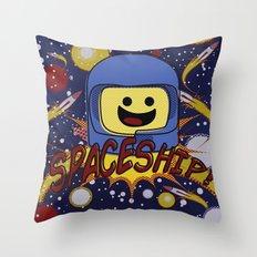 Spaceship!  Throw Pillow