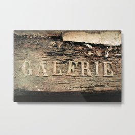 Old gallery in Antibes - French riviera Metal Print