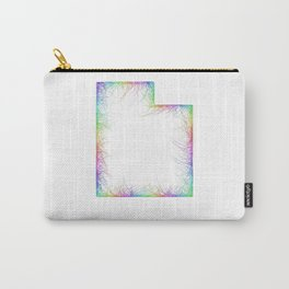 Rainbow Utah map Carry-All Pouch