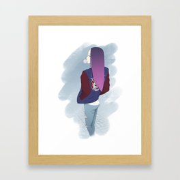 Gum girl Framed Art Print