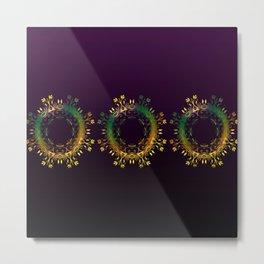 Fantasy Circle (Purple) Duvet Metal Print