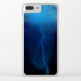 Rainy Night Clear iPhone Case