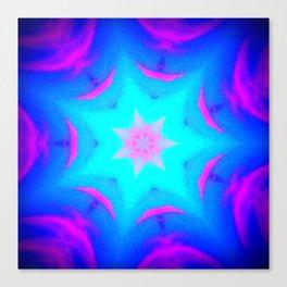pink & blue starburst Canvas Print