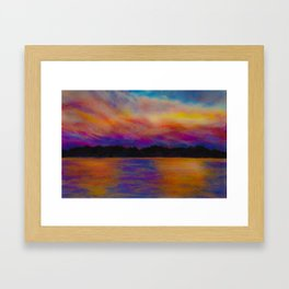 Dreaming of Lake Norman Framed Art Print