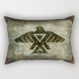 Thunderbird flag - Vintage grunge version Rectangular Pillow