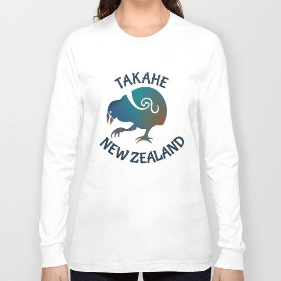 TAKAHE New Zealand Native bird Long Sleeve T-shirt