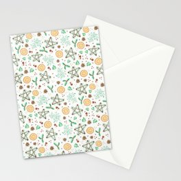 Pagan Yule Solstice Pattern Stationery Cards