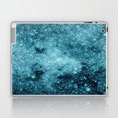 Teal Galaxy STars Laptop & iPad Skin