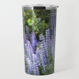 Lupins in Blue and Purple Travel Mug