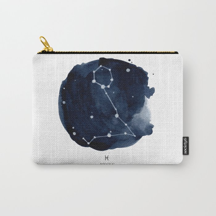 Zodiac Star Constellation - Pisces Carry-All Pouch