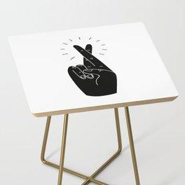 Fingers Crossed Side Table