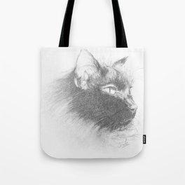 Portrait de chat Tote Bag