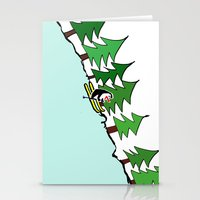 ski Stationery Cards featuring Ski Penguin by thepenguin.jiwon