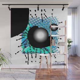 Blue and black Hole Wall Mural