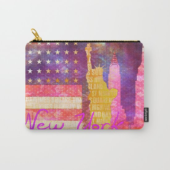 New York USA Statue of Liberty Carry-All Pouch