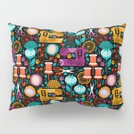 Garden of Sewing Supplies - Black Pillow Sham
