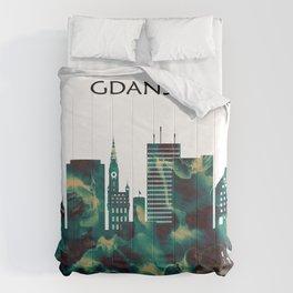 Gdansk Skyline Comforters