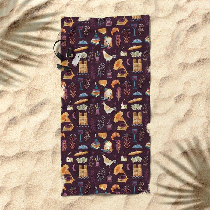 French spirit Beach Towel