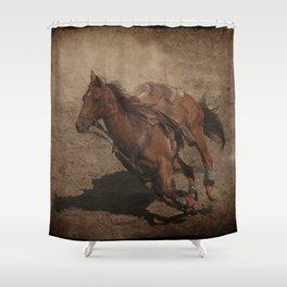 Break Away Rodeo Horse Shower Curtain