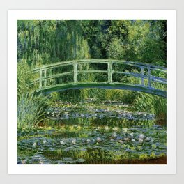 Water Lilies And The Japanese Bridge Claude Monet Art Print