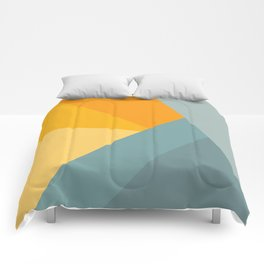 Abstract Mountain Sunrise Comforters