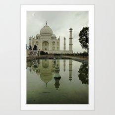 Romancing the Taj Mahal Art Print