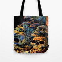 skulls Tote Bags featuring Skulls By Annie Zeno by Annie Zeno
