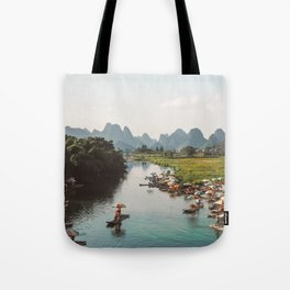 River bank scenic beauty Tote Bag