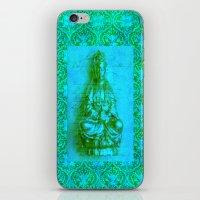 budi satria kwan iPhone & iPod Skins featuring Jade Kwan Yin by Jan4insight