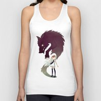 digital Tank Tops featuring Werewolf by Freeminds