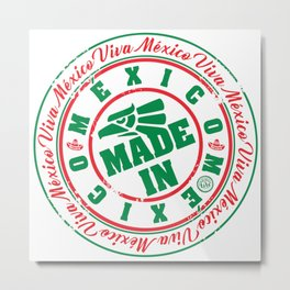 Made in México Metal Print