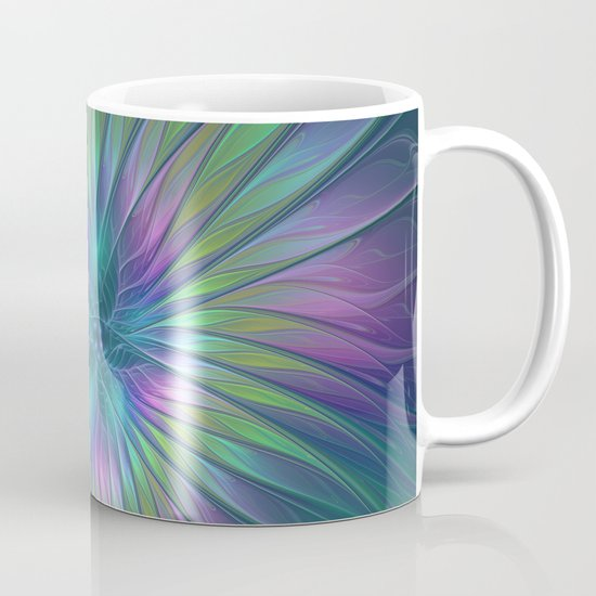 Colorful and luminous Fantasy Flower, Abstract Fractal Art Coffee Mug