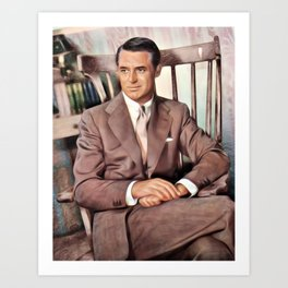 Cary Grant, Vintage Actor Art Print