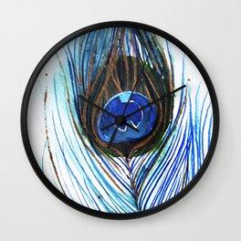 Peacock Feather II Wall Clock