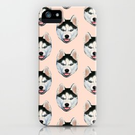 cute puppy husky dog pattern iPhone Case
