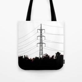 Power lines 9 Tote Bag