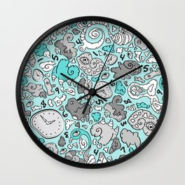PLAYTIME_BLUE Wall Clock