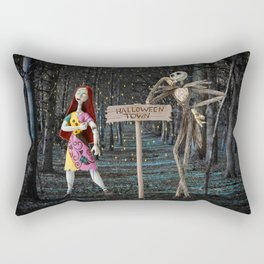 Halloween Town | Jack | Sally | Christmas | Nightmare Rectangular Pillow