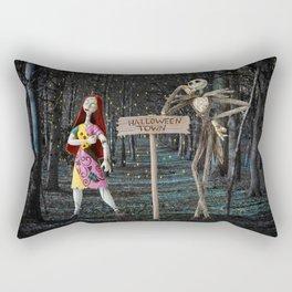 Halloween Town | Jack | Sally | Christmas | Nightmare Rectangular Pillow