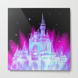Enchanted Fairy Tale Castle Metal Print