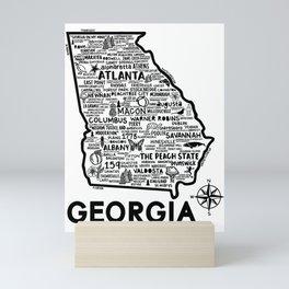 Georgia Map  Mini Art Print