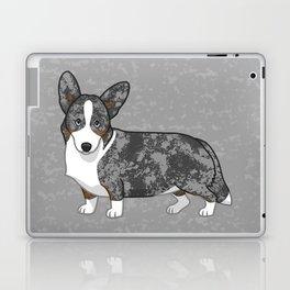 Cute Blue Merle & Tan Cardigan Welsh Corgi Dog Laptop & iPad Skin